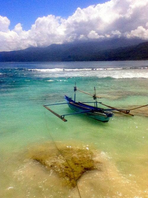 Outrigger Boat on Pulau Masokut