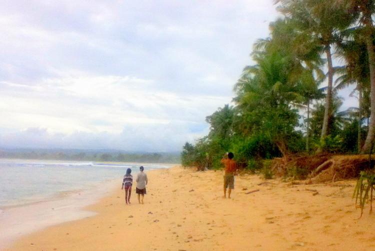 Spaziergang am Krui Beach